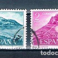 Sellos: ESPAÑA 1969 PRO TRABAJADORES ESPAÑOLES DE GIBRALTAR SERIE USADA EDIFIL 1933/1934. Lote 237580545