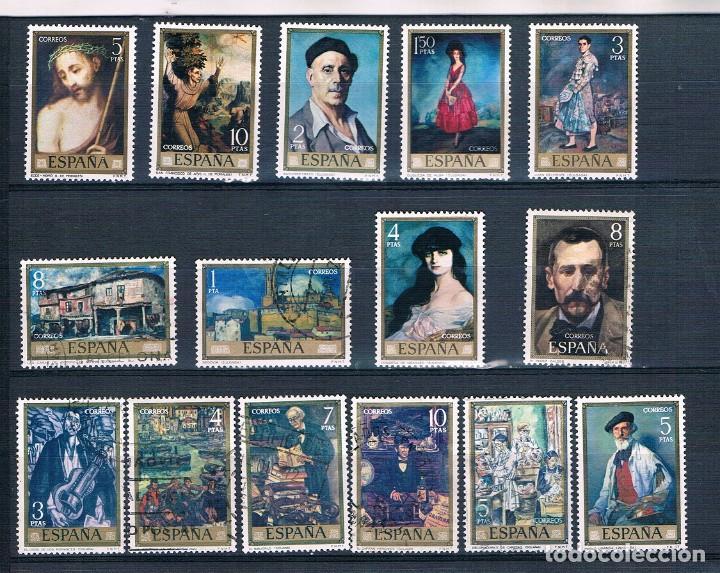 Sellos: ESPAÑA 32 SELLOS PINTORES AÑOS 70 USADOS DOS FOTOGRAFÍAS - Foto 2 - 237761745
