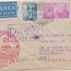 Sellos: CORREO AEREO MADRID MANILA - 1947. Lote 238874235