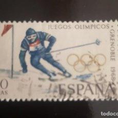 Sellos: EDIFIL 1851 SELLOS ESPAÑA AÑO 1968 USADO. JUEGOS OLIMPICOS GRENOBLE. Lote 239691670