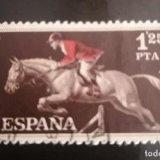 Sellos: ESPAÑA AÑO 1960 EDIFIL 1316 SELLO CON FIJASELLOS - DEPORTES - 1,25 PTAS. Lote 239752230