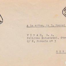 Sellos: ESPAÑA.- CARTA DE MONTBLANT A SEVILLA MATASELLO CERTIFICADO Y MARCA DESPUES DE LA SALIDA 1974. Lote 240193780