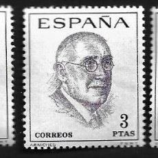 Sellos: II CENTENARIO - LITERATOS ESPAÑOLES - CENTENARIO DE SU NACIMIENTO - EDIFIL 1758-60 - 1966. Lote 255932895