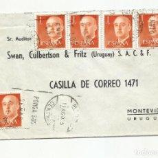 Sellos: CIRCULADA 1955 DE MADRID A MONTEVIDEO URUGUAY. Lote 242149345