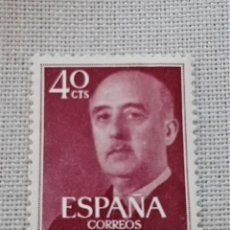 Sellos: EDIFIL 1146 GENERAL FRANCO 40 CENTIMOS PESETA 1955 USADO. Lote 242417865