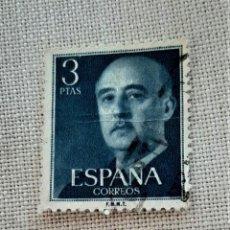 Sellos: SELLO ESPAÑA AÑO 1955 EDIFIL 1159 * MH - GENERAL FRANCO - 3 PESETAS USADO. Lote 242418680