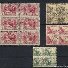 Sellos: SELLOS DE ESPAÑA 1940 AL 1949 LOTE DE BLOQUES USADOS. Lote 242966550