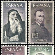 Sellos: ESPAÑA. AÑO 1963, EDIFIL 1536/39** ''PERSONAJES''./ NUEVOS, SIN FIJASELLOS. MNH.. Lote 263082275