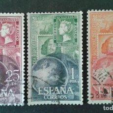 Sellos: EDIFIL 1595 1597 DIA MUNDIAL DEL SELLO 1964, USADOS, SIMILARES A LOS DE LA FOTO.. Lote 263051995
