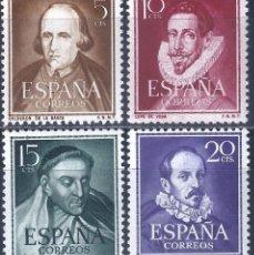 Sellos: EDIFIL 1071-1074 LITERATOS 1950-1953 (SERIE COMPLETA). EXCELENTE CENTRADO. MNH **. Lote 243530640