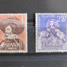 Sellos: AÑO 1961 CENTENARIO DE LA MUERTE DE VELAZQUEZ, NUEVOS CON GOMA ORIGINAL(LOS DE LA FOTO). Lote 244105595
