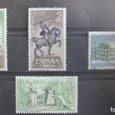 Selos: AÑO 1962 SERIE EL CID- NUEVOS CON GOMA ORIGINAL (LOS DE LA FOTO). Lote 254057665
