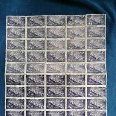 Selos: ESPAÑA SANTA MARIA AÑO 1955 EDIFIL 1170 HOJA 50 SELLOS EN HOJA PLIEGO USADO MATASELLOS A FAVOR. Lote 260742860