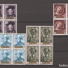 Sellos: SELLOS DE ESPAÑA AÑO 1962 PINTOR RUBENS , SELLOS NUEVOS** EN BLOQUE DE 4. Lote 244805050