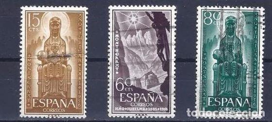 EDIFIL 1192 1194 AÑO JUBILAR MONTSERRTA USADOS, SIMILARES A LOS DE LA FOTO. (Sellos - España - II Centenario De 1.950 a 1.975 - Usados)