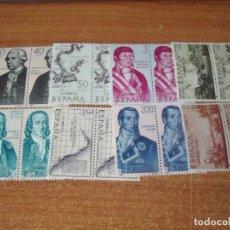 Sellos: SELLOS ESPAÑA FORJADORES DE AMERICA 1967 EDIFIL 1819/26. Lote 244897610
