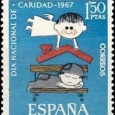 Sellos: ESPAÑA. AÑO 1967, EDIFIL 1801** ''PRO-CARITAS''./ NUEVOS, SIN FIJASELLOS. MNH.. Lote 244914400