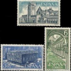 Sellos: ESPAÑA. AÑO 1969, EDIFIL 1946/48** ''MONASTERIO DE LAS HUELGAS''./ NUEVOS, SIN FIJASELLOS. MNH.. Lote 244988755