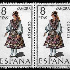 Francobolli: TRAJES REGIONALES - ZAMORA - EDIFIL 2017 - BLOQUE DE DOS. Lote 245072100