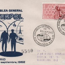 Sellos: SOBRE ILUSTRADO, CERTIFICADO, CON MATASELLOS DE LA XXXI ASAMBLEA GENERAL DE LA INTERPOL. Lote 245134100