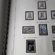 Sellos: ÁLBUM EDIFIL ESPAÑA 1950-1971 860 SELLOS NUEVOS. Lote 245202510