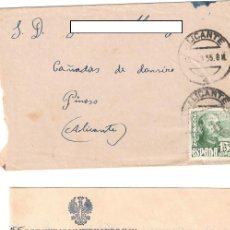 Sellos: CARTA AÑO 1955 - REGIMIENTO INFANTERIA SAN FERNANDO 11 BENALUA ALICANTE A CAÑADAS DE DON CIRO PINOSO. Lote 245205460
