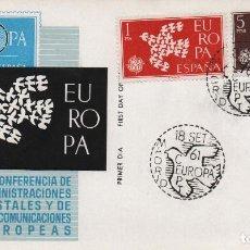 Sellos: SOBRE ILUATRADO CON MATASELLOS DE LA II CONFERENCIA DE ADMINISTRADORES POSTALES DE EUROPA. 1961. Lote 245442950