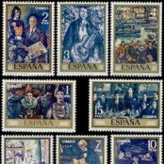 Sellos: ESPAÑA. AÑO 1972, EDIFIL 2077/84** ''SOLANA - PINTURAS''./ NUEVOS, SIN FIJASELLOS. MNH.. Lote 245743435
