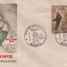 Sellos: SOBRE ILUSTRADO PRIMER DÍA DE LA SERIE EUROPA DE 1963. Lote 245881510