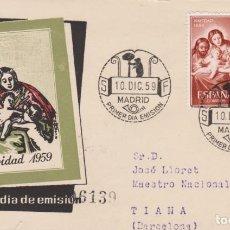 Sellos: AÑO 1959 EDIFIL 1253 SPD FDC NAVIDAD 1959. Lote 245907590