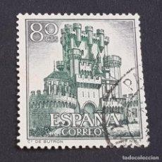 Sellos: ESPAÑA, 1966, CASTILLOS DE ESPAÑA, BUTRÓN, VIZCAYA, EDIFIL 1743, USADO, (LOTE AR). Lote 245935915