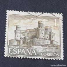 Sellos: ESPAÑA, 1966, CASTILLOS DE ESPAÑA, MANZANARES EL REAL, MADRID, EDIFIL 1744, USADO, (LOTE AR). Lote 245936110