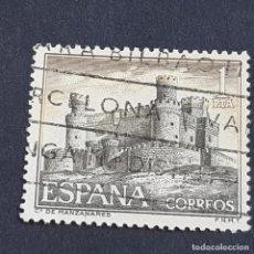 Sellos: ESPAÑA, 1966, CASTILLOS DE ESPAÑA, MANZANARES EL REAL, MADRID, EDIFIL 1744, USADO, (LOTE AR). Lote 245936145