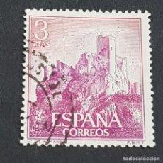 Sellos: ESPAÑA, 1966, CASTILLOS DE ESPAÑA, ALMANSA, ALBACETE, EDIFIL 1745, USADO, (LOTE AR). Lote 245936310