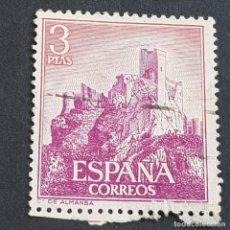 Sellos: ESPAÑA, 1966, CASTILLOS DE ESPAÑA, ALMANSA, ALBACETE, EDIFIL 1745, USADO, (LOTE AR). Lote 245936345