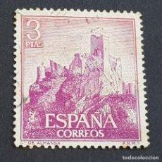 Sellos: ESPAÑA, 1966, CASTILLOS DE ESPAÑA, ALMANSA, ALBACETE, EDIFIL 1745, USADO, (LOTE AR). Lote 245936380