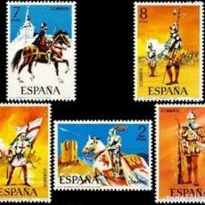 Sellos: ESPAÑA. AÑO 1973, EDIFIL 2139/43** ''UNIFORME MILITARES I''./ NUEVOS, SIN FIJASELLOS. MNH.. Lote 245943905