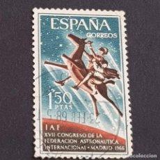 Sellos: ESPAÑA, 1966, XVII CONGRESO FEDERACIÓN ASTRONÁUTICA, EDIFIL 1749, USADO, (LOTE AR). Lote 245944655