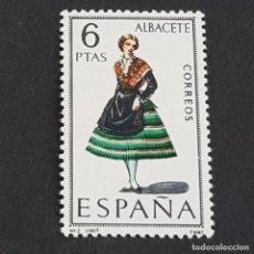 Timbres: ESPAÑA, 1967, TRAJES TÍPICOS, ALBACETE, EDIFIL 1768*, FIJASELLO, (LOTE AR). Lote 246110565