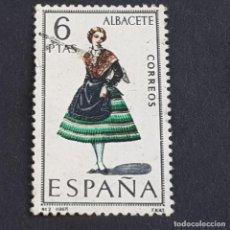 Francobolli: ESPAÑA, 1967, TRAJES TÍPICOS, ALBACETE, EDIFIL 1768, USADO, (LOTE AR). Lote 246110690