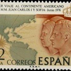 Sellos: ESPAÑA. AÑO 1976, EDIFIL 2333** ''VIAJE DE LOS REYES A AMÉRICA''./ NUEVOS, SIN FIJASELLOS. MNH.. Lote 246192510