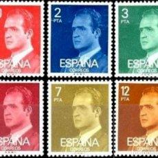 Sellos: ESPAÑA. AÑO 1976, EDIFIL 2344/49** ''JUAN CARLOS I: SERIE BÁSICA''./ NUEVOS, SIN FIJASELLOS. MNH.. Lote 246192965