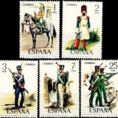 Sellos: ESPAÑA. AÑO 1976, EDIFIL 2350/54** ''JUAN CARLOS I: SERIE BÁSICA''./ NUEVOS, SIN FIJASELLOS. MNH.. Lote 246193185