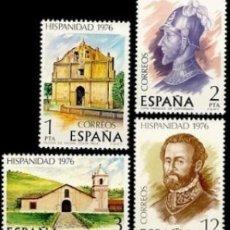 Sellos: ESPAÑA. AÑO 1976, EDIFIL 2371/74** ''HISPANIDAD: COSTA RICA''./ NUEVOS, SIN FIJASELLOS. MNH.. Lote 246193920