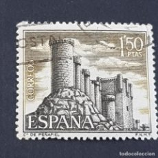Francobolli: ESPAÑA, AÑO 1968, CASTILLOS DE ESPAÑA, PEÑAFIEL, VALLADOLID, EDIFIL 1882, USADO, (LOTE AR). Lote 246276545