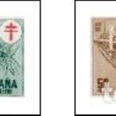 Sellos: AÑO 1950 (1084-1087) PRO TUBERCULOSOS, CRUZ DE LORENA EN ROJO (NUEVO). Lote 246344905