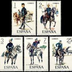 Sellos: ESPAÑA. AÑO 1977, EDIFIL 2423/27** ''UNIFORMES MILITARES VIII''./ NUEVOS, SIN FIJASELLOS. MNH.. Lote 246595430