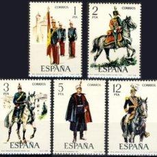 Sellos: ESPAÑA. AÑO 1978, EDIFIL 2451/55** ''UNIFORMES MILITARES IX''./ NUEVOS, SIN FIJASELLOS. MNH.. Lote 246602000