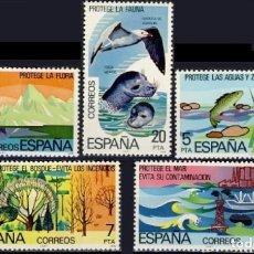Sellos: ESPAÑA. AÑO 1978, EDIFIL 2469/73** ''PROTECCIÓN DE LA NATURALEZA''./ NUEVOS, SIN FIJASELLOS. MNH.. Lote 246602845