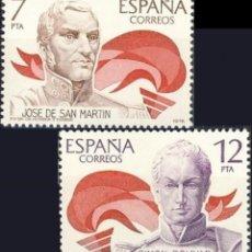 Sellos: ESPAÑA. AÑO 1978, EDIFIL 2489/90** ''AMÉRICA-ESPAÑA''./ NUEVOS, SIN FIJASELLOS. MNH.. Lote 246603630